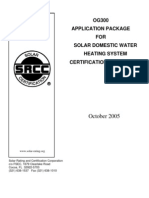 SOLAR WATER SYSTEM CERTIFICATION SRCC 2006.01.26