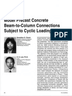 1993-Model Precast Concrete Beam-To-Column Connections Subject to Cyclic Loading