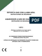 Manual Usuario Estufa de Gas Variable Blue Flame VBF2