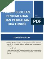 Fungsi, Penjumlahan Dan Perkalian Boolean