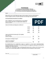 Gesundheitsfragebogen