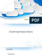 Lecture 10 Clustering Basic