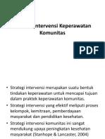 Strategi Intervensi Keperawatan Komunitas