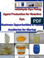 Non-Formaldehyde Dye Fixing Agent Production for Reactive Dye