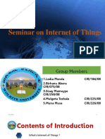 Seminar on Internet of Thingss