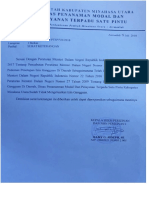 Surat Keterangan Dari DPM&PTSP - SIG Dicabut