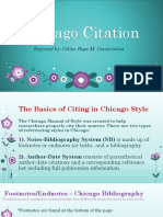 Chicago Citation- Report in Research