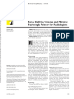 Renal Cell Carcinoma and Mimics. Patologic Primer for Radiologist. Jurnal 8