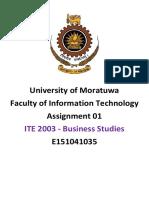 ITE 2003 - Business Studies