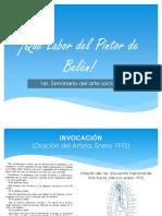 Genesis Del Proyecto Qué Labor Del Pintor de Belén!