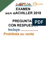 Examen Ser Bachiller 2018- 41 Preguntas