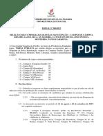 Bolsa Manutenção 2017.1 Edital de Seleção