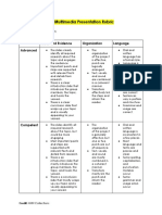 natural disasters multimedia presentation rubric