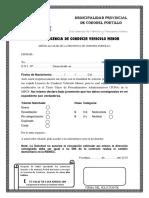 Solicita Licencia de Conducir Vehiculo Menor