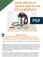 Hapax5 6 Cu Imagini Manual Utilizare RO