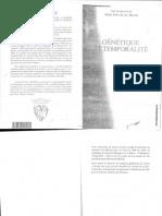Genetique et temporalité