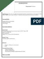 JD Format of Graduate Engineer Trainee - GET