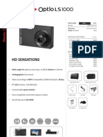 Pentax Optio LS1000 Specsheet