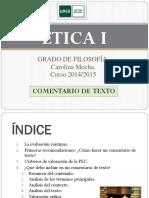 ÉTICA I. Como Hacer Un Comentario de Texto.2014-15