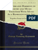 Rhythm and Harmony in Poetry and Music Together With Music as a 1000032664