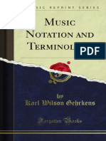 Music Notation and Terminology 1000006322