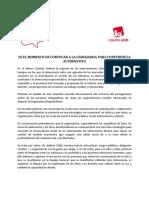 Carta a Las Federaciones-Convocatoria