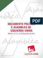 Documento Politico X Asamblea IU