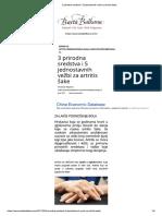 3 Prirodna Sredstva i 5 Jednostavnih Vezbi Za Artritis Sake