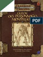 Guide Des Personnages Monstrueux