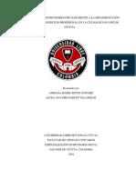Percepción de Los Revisores Fiscales Frente a La Implementación de Las Nías, En El Ejercicio Profesional en La Ciudad de San José de Cúcuta