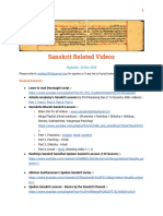 Sanskrit Videos List