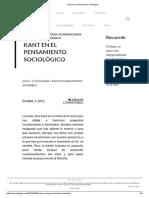 Kant en El Pensamiento Sociológico