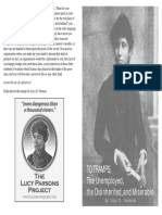 To TRAMPS, the Unemployed, the Disinherited, and Miserable by Lucy E. Parsons
