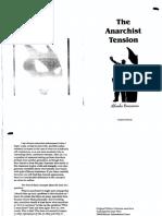 The Anarchist Tension  by Alfredo Bonanno