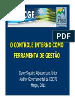 O Controle Interno Como Ferramenta de Gestao Palestra TCE2