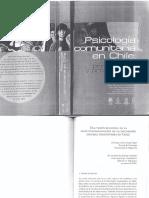 Asun y Unger, Institucionalización de La Psicologia Social Comunitaria