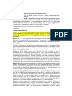 REGLAMENTO Del Registro Público de La Propiedad Federal.