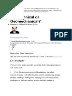 As a Geomechanical