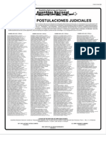 Listado de postulados al Tribunal Supremo de Justicia