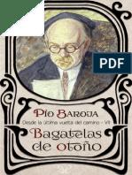 Bagatelas de otoño - Pío Baroja