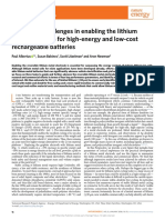 2018-Status and Challenges in Enabling the Lithium Metal Electrode for High-Energy and Low-cost Rechargeable Batteries