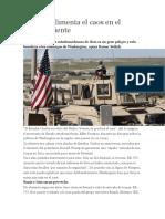 EEUU Aumenta Tension en Medio Oriente
