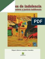 Libro Umbrales de Indolencia Miguel Alberto González González