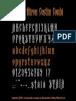 Arhaic Miron Costin Combi minuscule simple si majuscule decorative