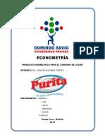 Proyecto Final - Econometría - La Purita Sa
