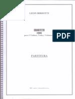 Leon Biriotti - Cuarteto de Cuerdas - Score