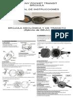 Manual Brujula Svbony Español Ingles