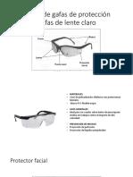 Partes de Gafas de Protección
