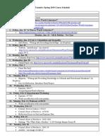 ENG 242 Spring 2019 Course Calendar