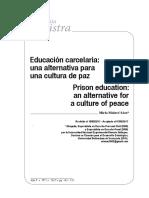 Educación Carcelaria. Una Alternativa Para Una Cultura de Paz_ Miria Malavé Sáez